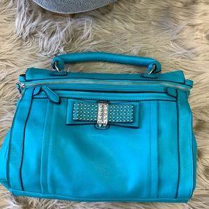 Turquoise Vegan Leather Bag NWT